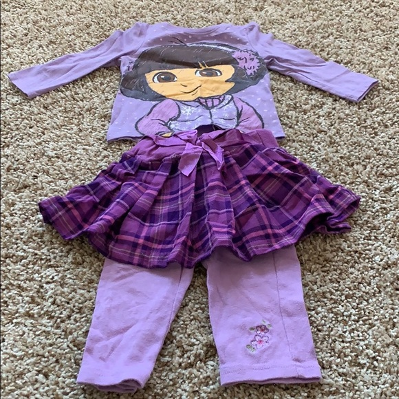 Nickelodeon Other - Dora Outfit with 2 shirts